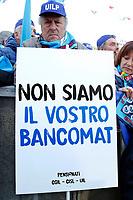 Rome February 9th 2019. Demonstration of the three Italian trade unions, CGIL, CISL, UIL.<br /> Foto Samantha Zucchi Insidefoto