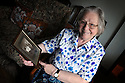 Rev Cynthia Hardiman with a photo of her grandfather, South Shields, Tyne and Wear, Rifleman Albert Penn.