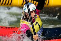 5th September 2021; Parc Olimpic del Segre, La Seu D'Urgell ICF Slalom World Cup, Women's  Extreme Slalom Semi-Finals;  Luuka Jones (NZL)