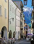 Italien, Suedtirol, Meran: Altstadtgasse | Italy, South-Tyrol, Alto Adige, Merano: old town lane