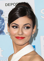 WESTWOOD, LOS ANGELES, CA, USA - JUNE 04: Victoria Justice arrives at the Los Angeles Premiere Of 'Spent: Looking for Change' held at the Billy Wilder Theater at Hammer Museum on June 4, 2014 in Westwood, Los Angeles, California, United States. (Photo by Xavier Collin/Celebrity Monitor)