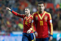 Spain's Sergio Ramos during international match of the qualifiers for the FIFA World Cup Brazil 2014.March 22,2013.(ALTERPHOTOS/Acero)