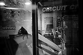 February 12, 2009<br /> New York, New York<br /> USA<br /> <br /> Manhattan's upper east side Circuit City is closed and filled with debris.