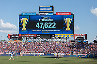 Nashville, TN - Saturday July 08, 2017: Nissan Stadium during a 2017 Gold Cup match between the men's national teams of the United States (USA) and Panama (PAN) at Nissan Stadium.