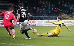 Dundee v St Johnstone…10.03.18…  Dens Park    SPFL<br />Chris Kane scores saints fourth goal<br />Picture by Graeme Hart. <br />Copyright Perthshire Picture Agency<br />Tel: 01738 623350  Mobile: 07990 594431