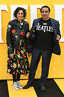 """LONDON, UK. June 18, 2019: Meera Syal and Sanjeev Baskhar arriving for the UK premiere of """"Yesterday"""" at the Odeon Luxe, Leicester Square, London.<br /> Picture: Steve Vas/Featureflash"""
