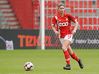 Standard's Ellen Charlier (13) with the ball during a female soccer game between Standard Femina de Liege and KRC Genk Ladies  on the third matchday of the 2020 - 2021 season of Belgian Womens Super League , Saturday 3 rd of October 2020  in Liege , Belgium . PHOTO SPORTPIX.BE   SPP   SEVIL OKTEM