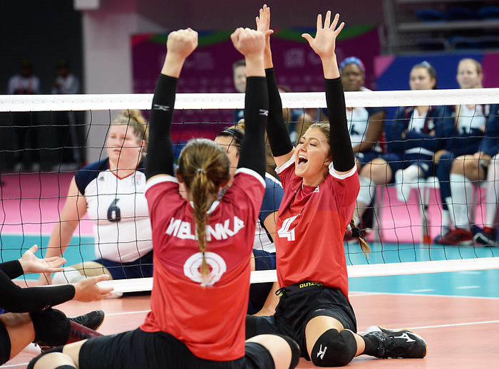 Jennifer Oakes and Sarah Melenka, Lima 2019 - Sitting Volleyball // Volleyball assis.<br />