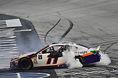 #11: Denny Hamlin, Joe Gibbs Racing, Toyota Camry FedEx Freight celebrates his win