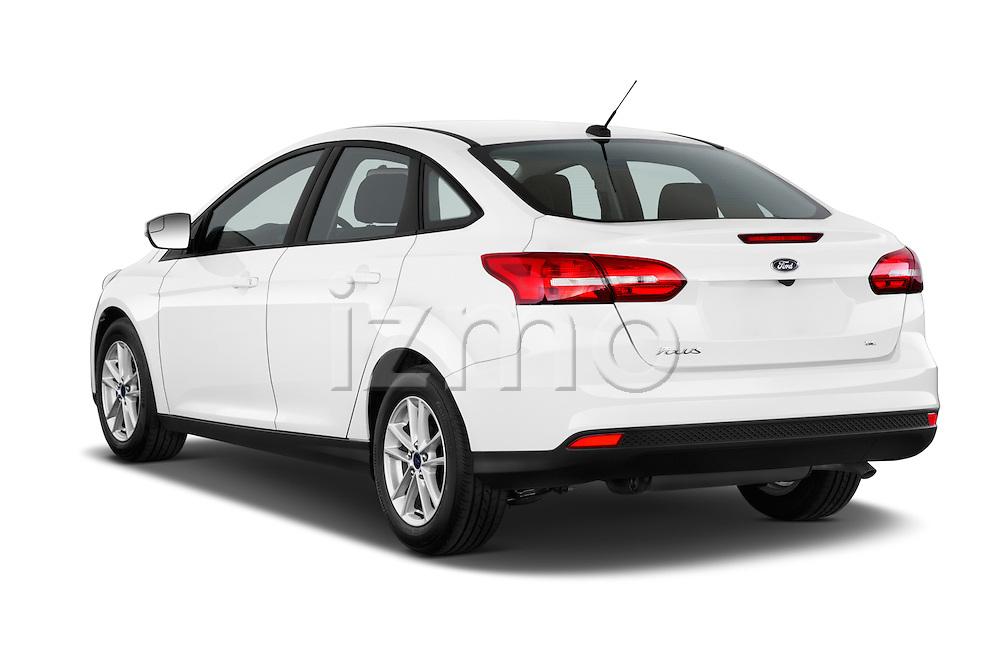 Car pictures of rear three quarter view of a 2015 Ford Focus SE Sedan 4 Door Sedan Angular Rear