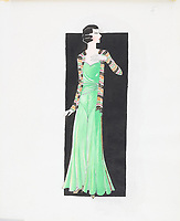 BNPS.co.uk (01202 558833)<br /> Pic: AuctionHub/BNPS<br /> <br /> Pictured: Spring 1931.<br /> <br /> A collection of fashion illustrations owned by Cecil Beaton have emerged for sale for £20,000.<br /> <br /> The drawings were given to the current seller, who has not been identified, by society and fashion photographer and costume designer Beaton as a thank you gift.<br /> <br /> Totalling over 500 designs from the 1920s and 30s, the illustrations have now been put up for auction with The Auction Hub, based in Westbury, Wiltshire.<br /> <br /> Cecil Beaton was an influential photographer, working for Vogue and Vanity Fair, as a war photographer, and taking society portraits of the Royal family and a host of celebrities.