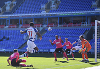 5th April 2021; Madejski Stadium, Reading, Berkshire, England; English Football League Championship Football, Reading versus Derby County;  Yakou Meite of Reading crosses into the penalty area