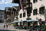 Austria, Tyrol, Ziller Valley, Mayrhofen: popular holiday resort, village centre with hotels, restaurants and pubs