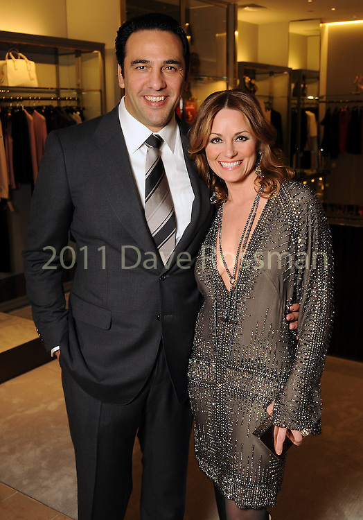 Honoree Lucinda Loya and her husband Javier at the Houston Chronicle's Best Dressed announcement party at Neiman Marcus Wednesday Feb 01,2012. (Dave Rossman/For the Chronicle)