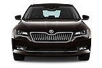 Car photography straight front view of a 2016 Skoda Superb Combi Laurin & Klement 5 Door Wagon Front View