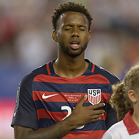 Tampa, FL - July 12, 2017: Kellyn Acosta The USMNT (USA) defeated Martinique (MAR) 3-2 in a 2017 Gold Cup group stage match at Raymond James Stadium.