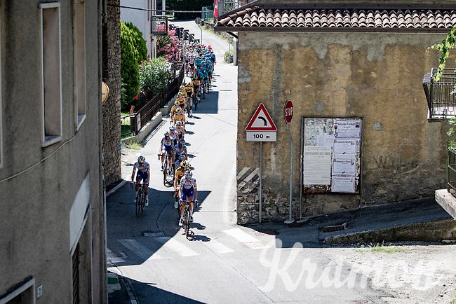 peloton on the first climb of the day: the Colle Gallo<br /> <br /> 114th Il Lombardia 2020 (1.UWT)<br /> 1 day race from Bergamo to Como (ITA/231km) <br /> <br /> ©kramon