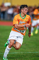 London, UK on Sunday 31st August, 2014. Daniel Sahyounie of The Janoskians during the Soccer Six charity celebrity football tournament at Mile End Stadium, London.