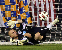 Eric Reed #23 Of the Carolins Railhawks makes a save during the second leg of the USSF-D2 championship match against the Puerto Rico Islanders at WakeMed Soccer Park, in Cary, North Carolina on October 30 2010.