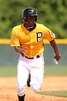 Pittsburgh Pirates outfielder Josh Bell #19 during an Instructional League game against the Philadelphia Phillies at Pirate City on October 11, 2011 in Bradenton, Florida.  (Mike Janes/Four Seam Images)
