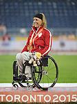 Diane Roy, Toronto 2015 - Para Athletics // Para-athlétisme.<br /> Diane Roy receives her Gold Medal for the Women's 800m T54 // Diane Roy reçoit sa médaille d'or pour le 800m T54 féminin. 10/08/2015.