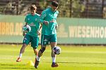 22.09.2020, Trainingsgelaende am wohninvest WESERSTADION - Platz 12, Bremen, GER, 1.FBL, Werder Bremen Training<br /> <br /> <br /> Milot Rashica (Werder Bremen #07)<br /> Pattrick Erras (Werder Bremen Neuzugang 29<br />  ,Ball am Fuss, <br /> Einzelaktion, Ganzkörper / Ganzkoerper <br /> <br /> Querformat<br /> <br /> <br /> Foto © nordphoto / Kokenge