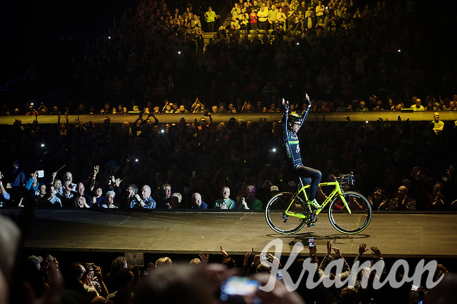 Sven greeting his crowd<br /> <br /> 'Merci Sven' (twice!) sold out arena event: <br /> tribute-show celebrating Sven Nys' career/retirement together with 18.000 people in the Sportpaleis Arena