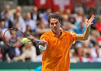 Switserland, Genève, September 18, 2015, Tennis,   Davis Cup, Switserland-Netherlands, Jesse Huta Galung (NED)<br /> Photo: Tennisimages/Henk Koster