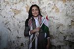 20/03/15 -- Akre, Iraq -- Sebar Salah Kareem, 14, from Akre dressed in traditional clothes to celebrate Newroz