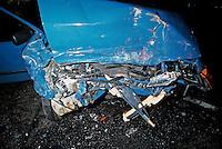 The remains of a Car following head on collision..©shoutpictures.com..john@shoutpictures.com