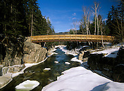 Rocky Gorge Scenic Area - The Rocky Gorge Bridge which crosses the Swift River in the White Mountains, New Hampshire USA next to the Kancamagus Highway