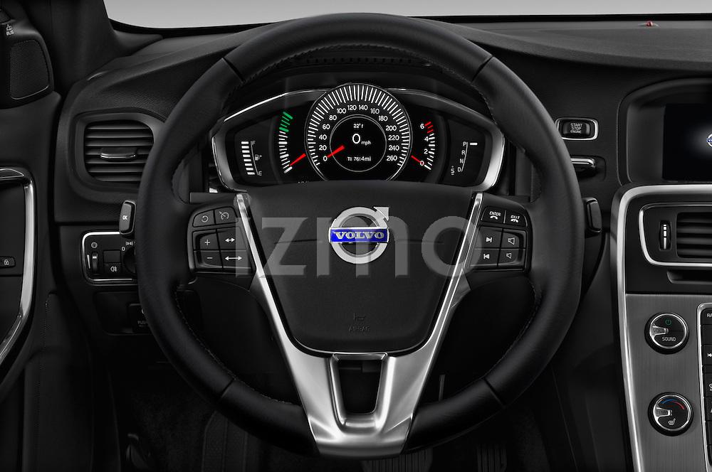 Car pictures of steering wheel view of a 2017 Volvo S60 R-Design 4 Door Sedan Steering Wheel