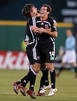 2006 MLS Regular Season Match at RFK Stadium, DC United midfielder Ben Olsen celebrating with team mate Facundo Erpen after scoring the first goal. Final score DC United 1, FC Dallas 1, Saturday, April 29, 2006.