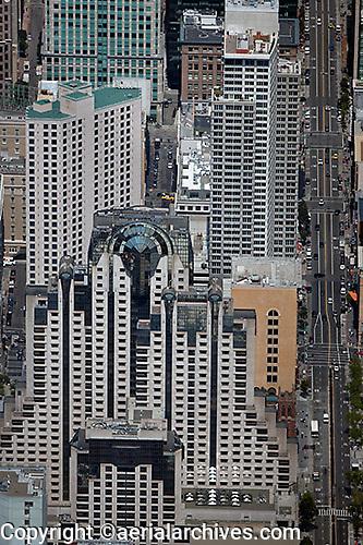 aerial photograph Marriott Westin hotels San Francisco
