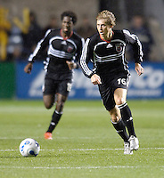 D.C. United defender midfielder Brian Carroll (16). The Chicago Fire defeated D. C. United 1-0 during the first leg of the MLS Eastern Conference Semifinal Series at Toyota Park in Bridgeview, IL, on October 25, 2007.