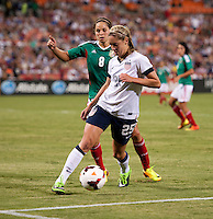 Morgan Brian, Lupita Worbis. The USWNT defeated Mexico, 7-0, during an international friendly at RFK Stadium in Washington, DC.  The USWNT defeated Mexico, 7-0.
