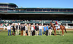 """October 08, 2014:  Rainha Da Bateria and jockey Joel Rosario win the 24th running of the JPMorgan Chase Jessamine Grade 3 $150,000 """"Win and You're In Juvenile Fillies Turf Division"""" at Keeneland for owner Three Chimneys Farm and grainer H. Graham Motion.  Candice Chavez/ESW/CSM"""