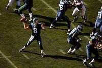 Sep 18, 2005; Seattle, WA, USA; Seattle Seahawks quarterback Matt Hasselbeck #8 passes the ball against the Atlanta Falcons in the fourth quarter at Qwest Field. Mandatory Credit: Photo By Mark J. Rebilas