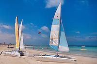Segelboote, Plage de Sidi Mahres, Djerba, Tunesien