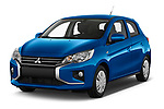 2020 Mitsubishi Space-Star IN 5 Door Hatchback Angular Front automotive stock photos of front three quarter view