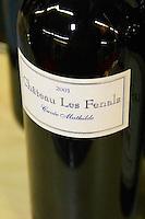 Chateau Les Fenals Cuvee Mathilde Chateau Les Fenals Fitou. Languedoc. France. Europe. Bottle.