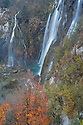 Veliki Slap (The Big Waterfall), over which the Plitvica river plummets 78 metres.  Plitvice Lakes National Park, Croatia. November.
