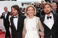 DIEGO LUNA, MARTHE KELLER AND RUBEN OSTLUND - RED CARPET OF THE FILM 'MONEY MONSTER' AT THE 69TH FESTIVAL OF CANNES 2016