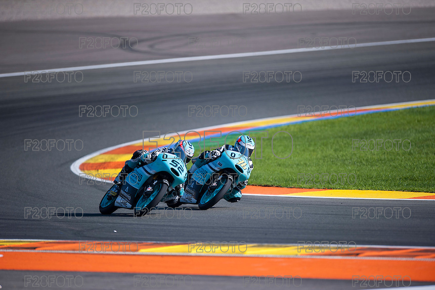 VALENCIA, SPAIN - NOVEMBER 8: Danny Kent, Hiroki Ono during Valencia MotoGP 2015 at Ricardo Tormo Circuit on November 8, 2015 in Valencia, Spain
