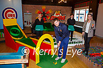Philip O'Connor and Norita Cashman in their new business The Caddyshack indoor golf  in Killarney with Saoirse Cournane and Ciaran Cronin