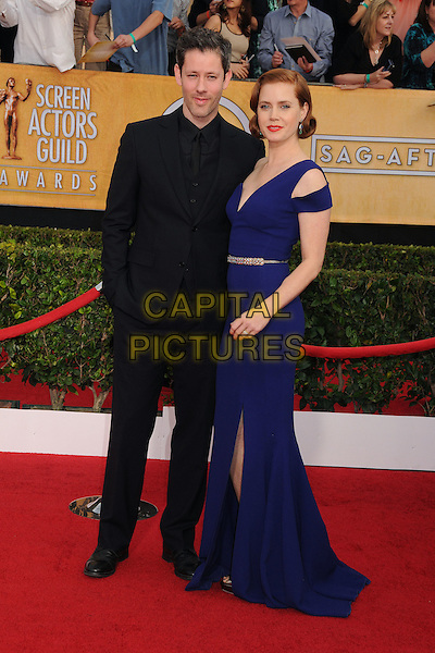 18 January 2014 - Los Angeles, California - Darren Le Gallo, Amy Adams. 20th Annual Screen Actors Guild Awards - Arrivals held at The Shrine Auditorium. Photo Credit: Byron Purvis/AdMedia<br /> CAP/ADM/BP<br /> ©Byron Purvis/AdMedia/Capital Pictures