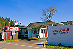 Abandoned roadside motel along Interstate 5 in the Willamette Valley, Oregon.  This closed motel has seen better days.