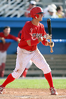 August 3rd 2008:  Beau Riportella of the Batavia Muckdogs, Class-A affiliate of the St. Louis Cardinals, during a game at Dwyer Stadium in Batavia, NY.  Photo by:  Mike Janes/Four Seam Images