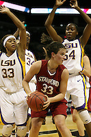 27 March 2006: Jillian Harmon during Stanford's 62-59 loss to LSU during the NCAA Women's Basketball tournament Elite Eight round in San Antonio, TX.