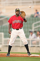 Kannapolis first baseman Brandon Allen waits for a throw in game action versus the Augusta Green Jackets at Fieldcrest Cannon Stadium in Kannapolis, NC, Saturday, June 17, 2006.